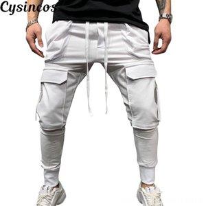 CYSINCOS New Men Men's Men's Clothing Hip Hop Harem Joggers Pants 2019 Male Trousers Mens Joggers Solid Multipocket Pants Sweatpants M3XL