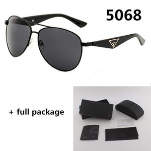 Fashion Designer Brand Солнцезащитные очки 5068 Новый Металл Двойной Нос Луч Eyewear UV400 Ветрозащитные Очки Оптом Оптом