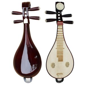 Music soul directo de fábrica especial de caoba liuqin productos de cobre para enviar accesorios instrumentos musicales especiales liuqin de madera dura