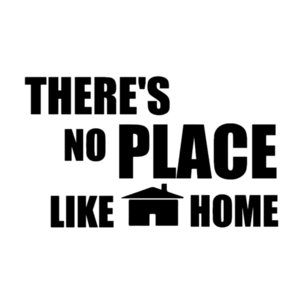 16 * 9.6cm Es gibt No Place Like Home-Dekor-lustige Auto-Fenster-Auto-Neuheit JDM Drift Vinyl-Aufkleber Aufkleber