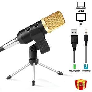 MK F100TL USB Mikrofon Studio Professional Kondensator Wired Computer-Mikrofon mit Standplatz für Karaoke-Video Recording PC