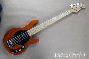 Бесплатная доставка завод музыки человек StingRay5 музыка человек 5 строк оранжевый электрический бас-гитара Эрни мяч