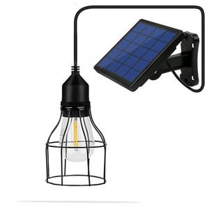 Gaiola Pendant Light Ferro minimalista Retro Loft Pyramid luminária Solar Energia metal Hanging Lamp E27