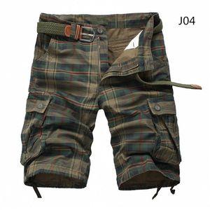 Men Shorts Plaid Beach Shorts 2020 Summer Mens Casual Camo Camouflage Shorts Military Short Pants Male Bermuda Cargo Overalls CX200624