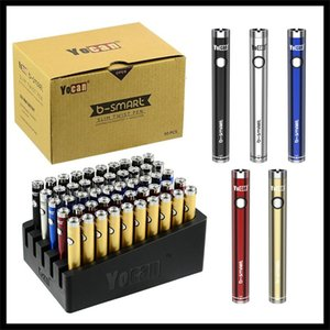 정통 Yocan B-스마트 Vape 배터리 펜 320mAh 슬림 트위스트 예열 VV 바닥 조정 전압 E CIG 디스플레이 스탠드 (510) 배터리
