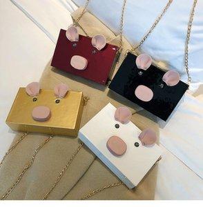 Pig bag on the new small bag female new tide Korean version of the wild girl chain box handbag shoulder Messenger bag