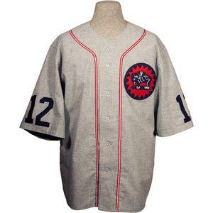 Houston Buffaloes 1932 Yol Jersey 100% Dikişli Nakış Logolar Vintage Beyzbol Formalar Özel Herhangi Adı Herhangi Bir Numara Ücretsiz Karg ...