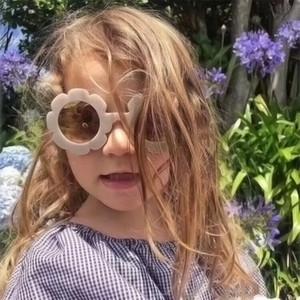 عام 2020 أطفال الموضة النظارات الشمسية الأولاد الفتيات زهرة عباد الشمس لطيف إطار نظارات الشمس أطفال حفلة نظارات Uv400 ظلال