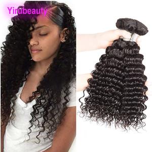 Brasilianisches Menschenhaar 3 Bundles Deep Wave Curly Hair Extensions peruanisches indisches malaysisches reines Haar 95-100g / piece