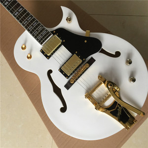 bianco chitarra elettrica chitarra jazz spedizione gratuita strumento musicale dalla Cina