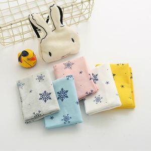 El comercio exterior de los niños de la bufanda de Niños y Niñas de la impresión del algodón suéter de la historieta de la bufanda del copo de nieve collar de la joyería al por mayor de