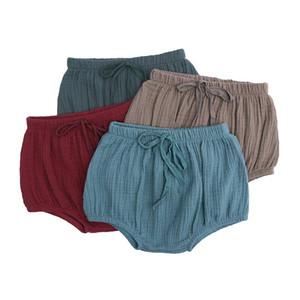 INS infantil Meninas Sólidos Pants Elastic Curto Meninos da criança New Doce Moda Summer Girls 100% Algodão PP Calças Diaper incluir Cuecas