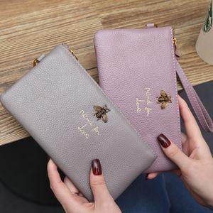 Wholesale Factory women leather wallet personality fashion women Long Wallet Purse Clutch bag Women Handbag coin pocket leather wallet purse