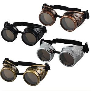 Moda Punk do vapor Goggles Gothic Retro Man Vidros E Mulheres Outdoor Caminhadas Útil portátil Multi cor de alta qualidade 6 5XL H1