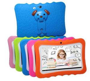 I bambini di Tablet PC da 7 pollici di marca per bambini tablet Quad Core Android 4.4 giocatore Allwinner A33 Google WiFi grande altoparlante coperchio protettivo con il pacchetto
