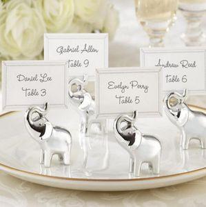은빛 코끼리 플레이스 카드 소지자 파티 용품 웨딩 테이블 장식 웨딩은 신부 샤워 LX6037에 대한 선물을 선호한다