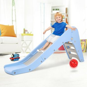 Toddler Slide Climber Indoor Outdoor Kids Playground Toy Play w  Basketball Hoop