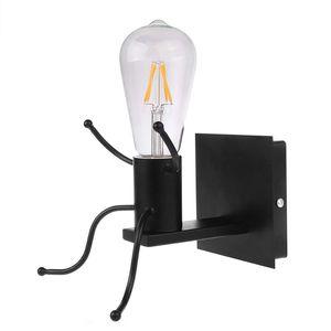 Modern Cartoon Doll Wall Light LED Creative Mounted Iron Applique Lighting Lamp for Kids Baby Bedroom Living Room Bedroom Decor