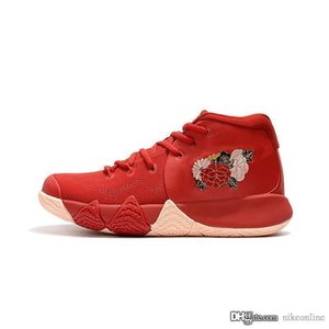 Cheap new 2k20 Mens Kyrie Irving 4 basketball shoes CNY LNY China Luar New Year Red Floral Zoom Air kyries 4s IV sneakers with box for sale