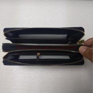 Moda Bayan Uzun Cüzdan Cüzdan Yüksek kaliteli Bayanlar Debriyaj çanta Erkekler Çift Fermuar cüzdan Kart Sahibi