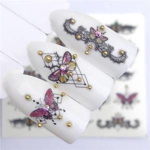 1 PC Flores / Pascua / Mariposa / Collar Para Nail Art Watermark Tattoo Etiqueta Engomada Del Clavo de Transferencia de Agua Calcomanías Decoración