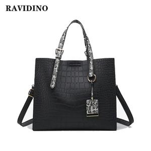 RAVIDINO Крокодил сумки женщин змеиной Широкий плечевой ремень сумки на ремне пряжка высокой емкости Тотализаторов 2019