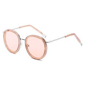 Yeni High-End kadın Yuvarlak Çerçeve Güneş Gözlüğü kadın Marka Tasarımcı Güneş Gözlüğü Yuvarlak Lens Avrupa Ve Amerika Bayanlar Altın Çerçeve Yuvarlak Gözlük
