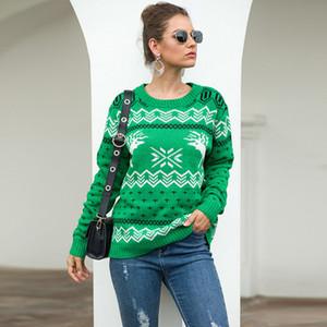 2019 neue wärmeren Frauen Langarm Weihnachten Pullover Herbst Winter verdicken gedruckt Damen stilvolle Sweatshirt Großhandel