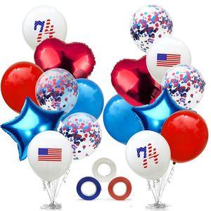 American Independence Day Balloon наборы США 4-го юбилейного июля Патриотическое Sequin Balloon для Indoor Outdoor Decor партии