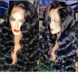 Alta calidad Pre desplumados Deepe Designer1 onda de agua a prueba de calor del pelo peluca del frente del cordón de la onda sintética 360 mujeres americanas África peluca con