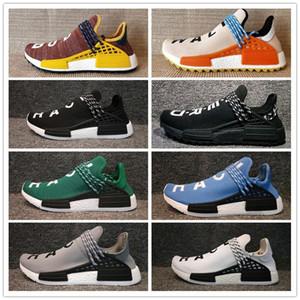 NMD Human Race Hommes Femmes Chaussures de course Pharrell Williams rabais Athletic Training Outdoor Sport Sneaker Taille 36-47 Vente en ligne
