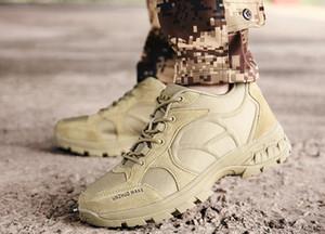 o invierno nueva de cuero al aire libre botas militares superiores de los hombres bajos de luz transpirable zapatos de entrenamiento táctico buena yakuda línea montañismo