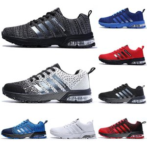 2020 running casual shoes men women black white blue grey Breathable cushion soft mens tainers outdoor sports sneakers size 36-45 Color2