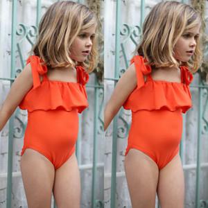 Kinder-Baby-orange Schöne Schwimmen Kinder Badeanzug Bademode Alter 6M-5Y-Klage