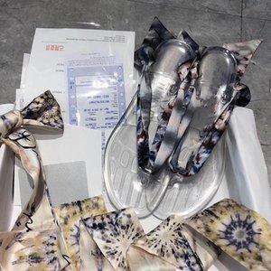 pantoufle Weisefrauensandelholze Neue Sandale Luxus Slide-Designer-Schuhe Mode Removable Schal kann Schal Designer Seide werden Designer Slipper ersetzt