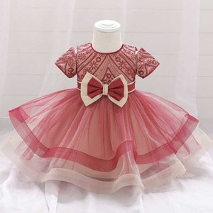 2020 Pageant Ceremony 1st Birthday Dress For Baby Girl Clothes Princess Dresses Ball Gown Girls Party And Wedding Dress Elegant