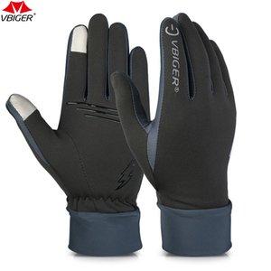 Vbiger Outdoor Laufen Wandern Handschuhe Tounch Screen Verschleißfeste Anti-Rutsch-Handschuhe Radfahren Sport Handschuhe Fäustlinge für Männer Frauen