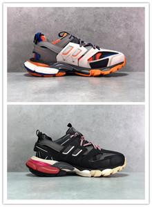 Sapatos casuais Track3. 0 ténis Tess Paris Men Gomma Maille Black Low Track 3m Shoes Outdoor Jogging Designer Clunky size36-45