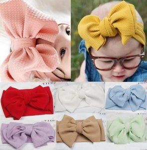 Baby girls big bow Cross Headbands kids Hair bows Elastic headdress hair bandwrap Turban Knot Children Hair Acessórios