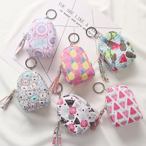 Saco bonito em forma de chaveiro Coin Purse Mulheres Meninas Mini Backpack Chaves Cartão Keychain bolsa pingente chaveiro Anel Jóias