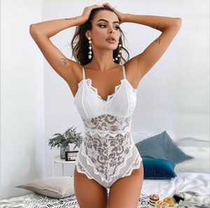 rotic Underwear Women Sexy Bodysuit Transparent Lace Backless Sexy Hollowed-out Lace Flower Sex Jumpsuit Bodysuits Thong