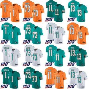 MiamidelfiniMen # 1 Tua Tagovailoa 73 Austin Jackson 11 DeVante Parker 13 Dan Marino Donne gioventù 100th Limited Jersey
