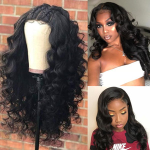 360 Lace Frontal Wig Pre Plucked With Baby Hair Black Women Glueless Brazilian Remy Hair Body Wavy Short Bob