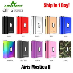 ¡En stock! 100% variable original Airis Mystica II de arranque kit de la MOD de la batería 450mAh Cartuchos aceite espeso Para valtage con cargador USB