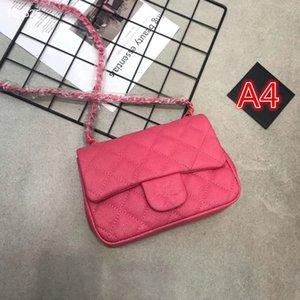 2020 Marca C exclusivo novo estilo pele de couro cadeia saco de camurça roxo ovelhas bolsa da senhora check grão pequeno saco quadrado saco de ombro único