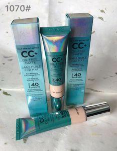 Marca maquiagem CC + óleo livre matte sans huile fini mat poros minimizando cobertura total creme anti anging e hidratante soro spf / fps 40 uva / uvb
