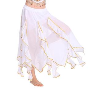 Falda de expansión de gasa con falda de mujer de MISSKY para la práctica de danza del vientre