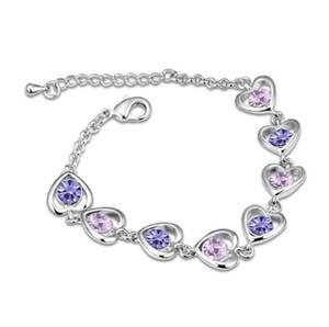luxo designer de jóias mulheres Pulseiras de jóias senhora Charme austríaco Zircon simples pulseira Design Feito com elementos W69