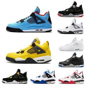 Günstige Loyal Blau Was das 4 4s Herren-Basketball-Schuhe Raptors White Cement Alternate Motorsport gezüchtet Turnschuhe Sport Größe 7-13