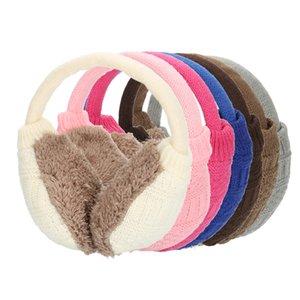 Le donne paraorecchie caldo della termica paraorecchie unisex Earmuffs Gli amanti della peluche dell'orecchio Muffs calda inverno lavabile fatto a maglia per Scaldaorecchie